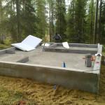 Фундаментная основа для бани