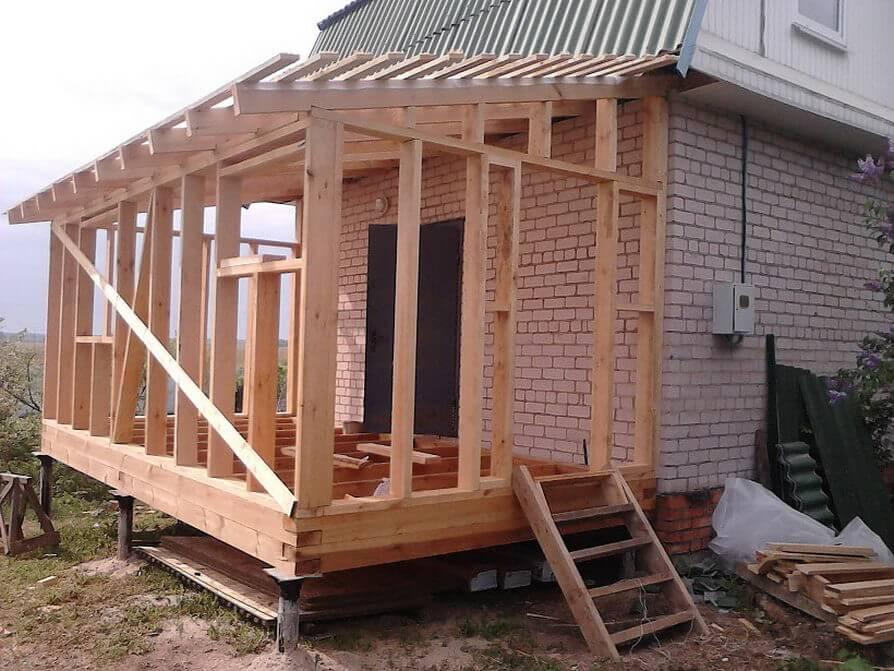 Строим пристройку из бруса к дому своими руками