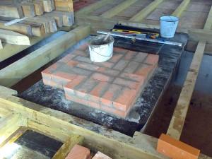 Фундамент для печи в деревянном доме