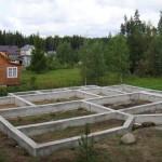 Строительство фундамента под перегородки в домах