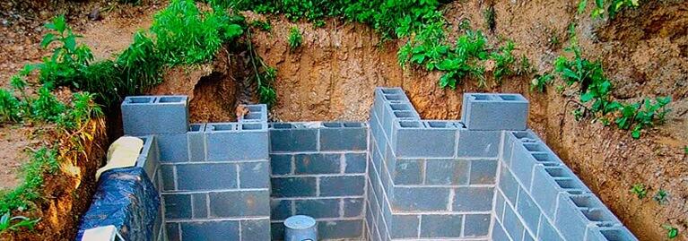 Погреб из керамзитобетонных блоков