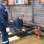 Замена фундамента под старым деревянным домом
