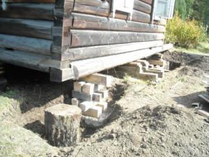 Установка опор из строительных материалов