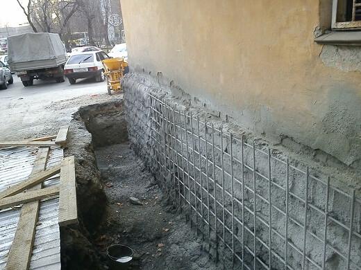 Ремонт фундамента частного дома своими руками