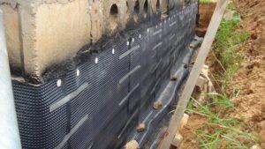 Двухслойная наружная гидроизоляция подвала