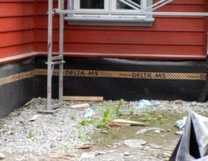 Гидроизоляция фундамента уже построенного дома